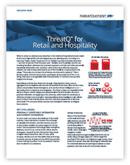 ThreatQ By Industry - Retail and Hospitality - Datasheet